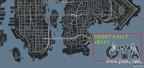 Desert Rally+Boat for GTA 4 seventh screenshot