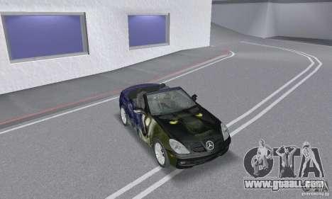 Mercedes-Benz SLK 350 for GTA San Andreas upper view