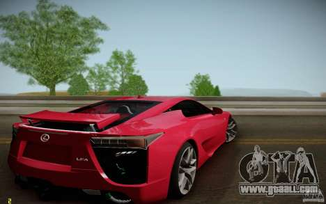 Lexus LFA for GTA San Andreas left view
