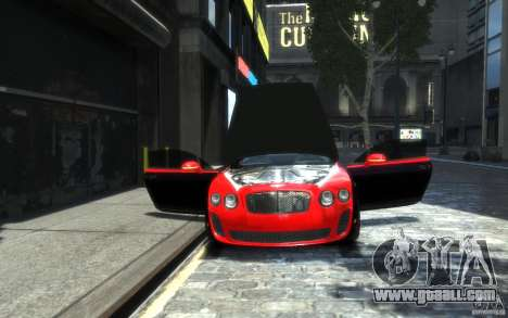Bentley Continental SS MansorY for GTA 4 interior