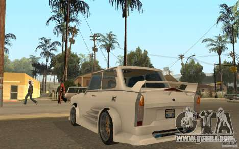 Trabant 601S Tuning for GTA San Andreas back left view