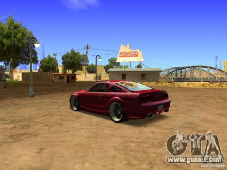 Ford Mustang GT 2005 Tuned for GTA San Andreas right view