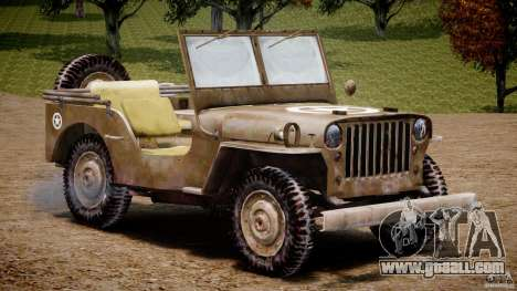 Jeep Willys [Final] for GTA 4 inner view
