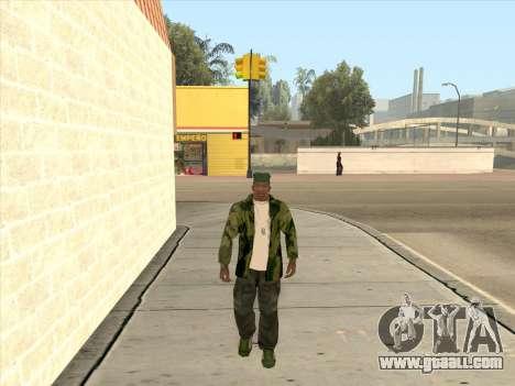 Camouflage jacket for GTA San Andreas forth screenshot