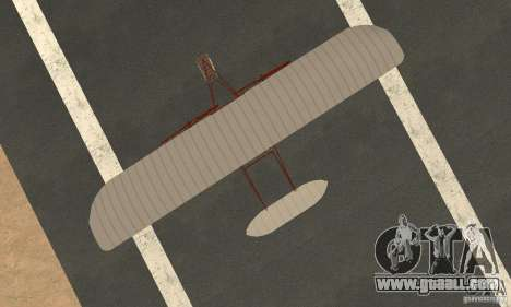 The Wright Flyer for GTA San Andreas right view