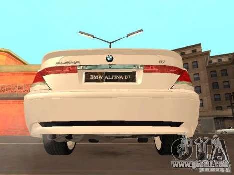 BMW Alpina B7 for GTA San Andreas right view
