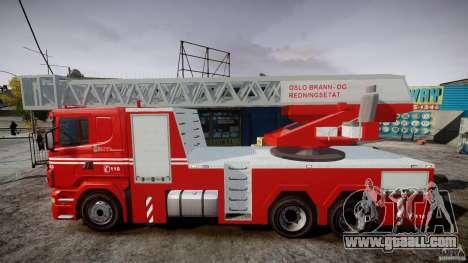 Scania Fire Ladder v1.1 Emerglights red [ELS] for GTA 4 left view