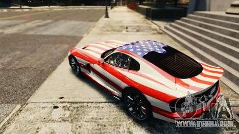 Dodge Viper GTS 2013 for GTA 4 right view