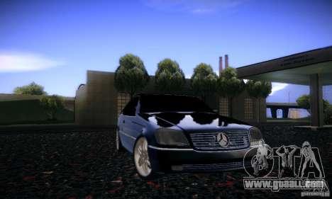Mercedes-Benz 600SEC for GTA San Andreas side view