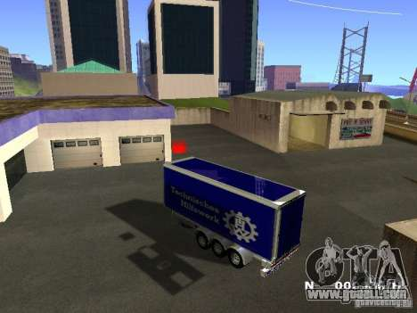 Trailer for Iveco Stralis for GTA San Andreas right view