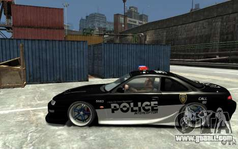 Nissan 200SX Police v0.2 for GTA 4 left view