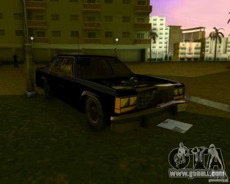Ford Crown Victora LTD 1985 for GTA Vice City upper view