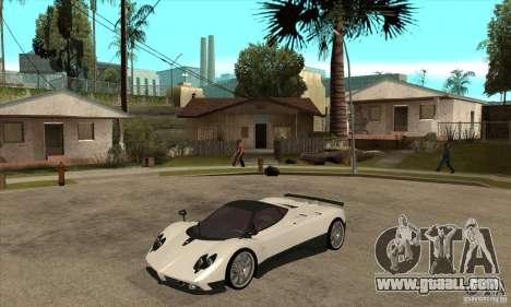 Pagani Zonda F Speed Enforcer BETA for GTA San Andreas left view