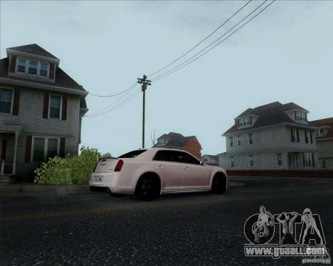 Chrysler 300 SRT-8 Final 2011 for GTA San Andreas back left view