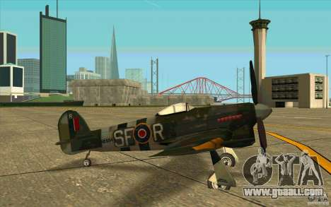 Hawker Typhoon for GTA San Andreas back left view
