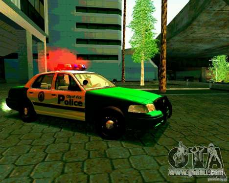Ford Crown Victoria 2003 Police Interceptor VCPD for GTA San Andreas back view