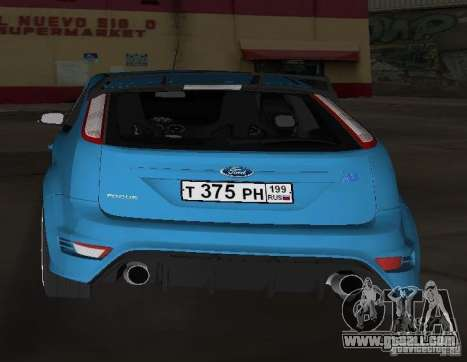 Ford Focus RS 2009 for GTA Vice City back left view