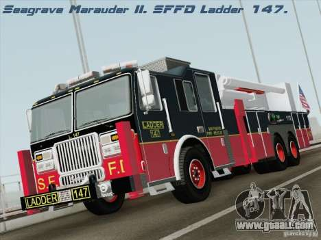 Seagrave Marauder II. SFFD Ladder 147 for GTA San Andreas