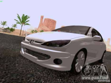 Peugeot 206 for GTA San Andreas right view