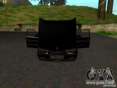 BMW E34 Alpina B10 Bi-Turbo for GTA San Andreas back view