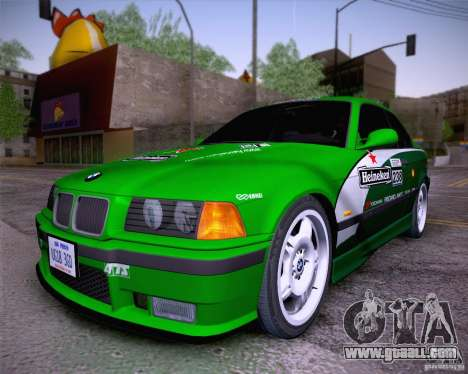 BMW M3 E36 1995 for GTA San Andreas inner view