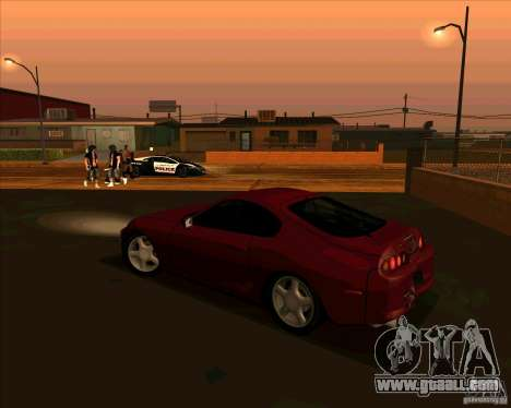 Toyota Supra NFS Most Wanted for GTA San Andreas left view