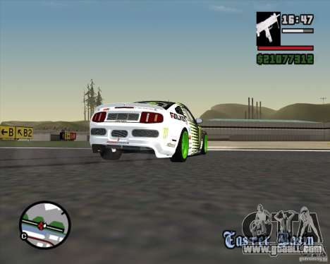 Ford Mustang GT 2010 Vaughn Gittin Jr for GTA San Andreas side view