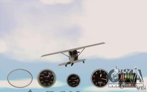 Air instruments in an airplane for GTA San Andreas third screenshot