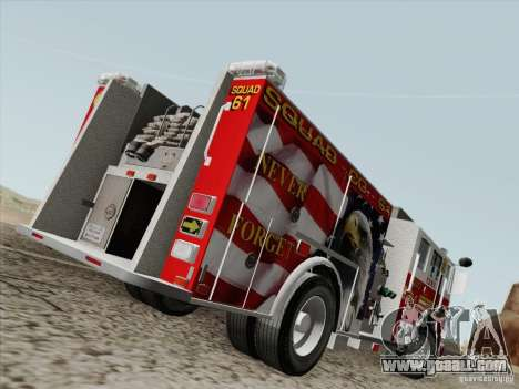 Seagrave Marauder. F.D.N.Y. Squad 61. for GTA San Andreas right view