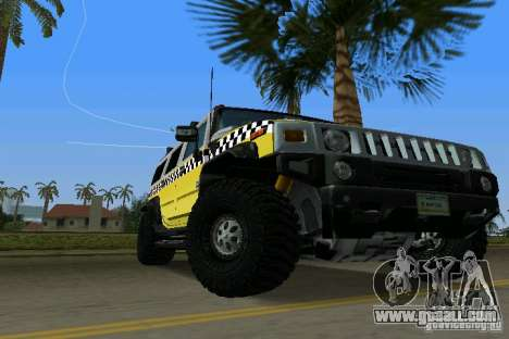 Hummer H2 SUV Taxi for GTA Vice City right view