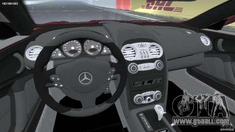 Mercedes-Benz McLaren SLR 722 v2.0 for GTA 4 back view
