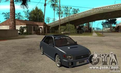 Subaru Impreza Universal for GTA San Andreas side view