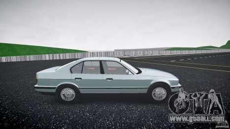 BMW 535i E34 for GTA 4 back view
