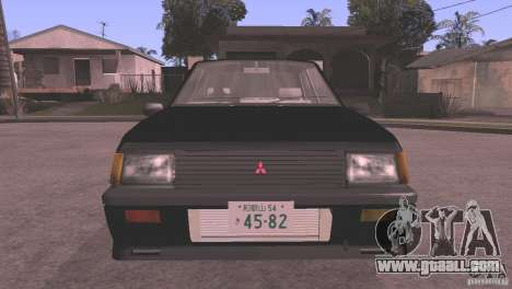 Mitsubishi Lancer EX Turbo 1983 for GTA San Andreas left view
