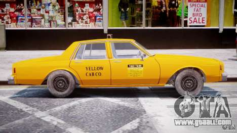 Chevrolet Impala Taxi 1983 [Final] for GTA 4 back left view