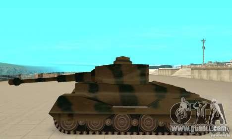 RL-Tiger Tank for GTA San Andreas left view