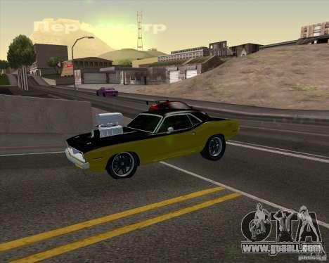 Plymouth Hemi Cuda 440 for GTA San Andreas engine