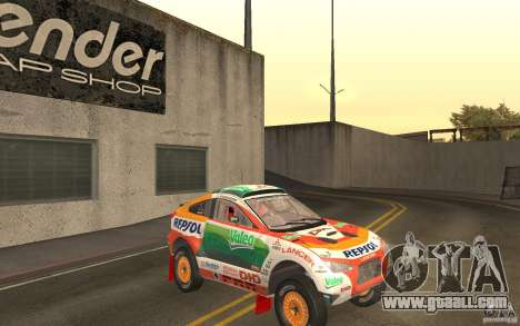 Mitsubishi Racing Lancer for GTA San Andreas back view