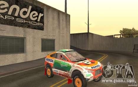 Mitsubishi Racing Lancer for GTA San Andreas back view