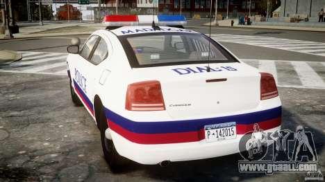 Dodge Charger Karachi City Police Dept Car [ELS] for GTA 4 back left view