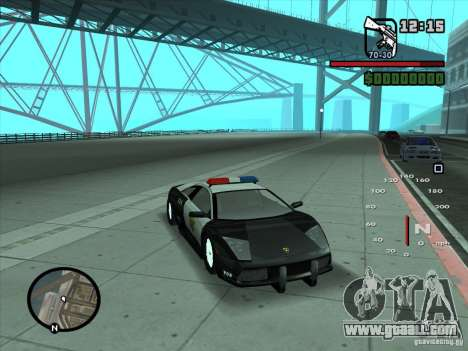 Lamborghini Murcielago Police for GTA San Andreas back left view