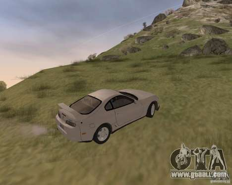 Toyota Supra 3.0 24V for GTA San Andreas back view