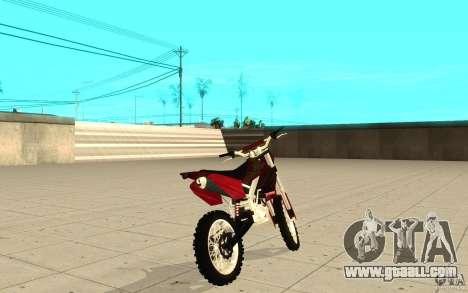 GTAIV Sanchez for GTA San Andreas back left view