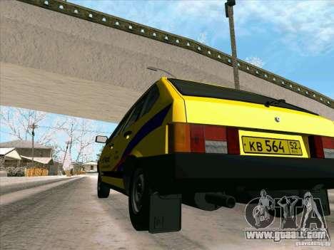 VAZ 21093i TMK Afterburner for GTA San Andreas upper view