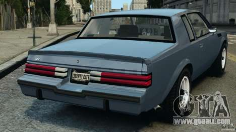 Buick GNX 1987 for GTA 4 back left view
