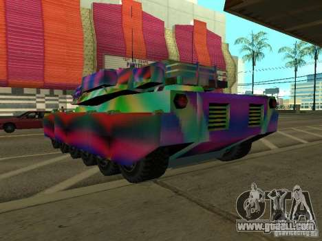 A cheery color tank for GTA San Andreas back left view