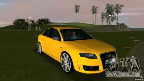 Audi RS4 for GTA Vice City back view