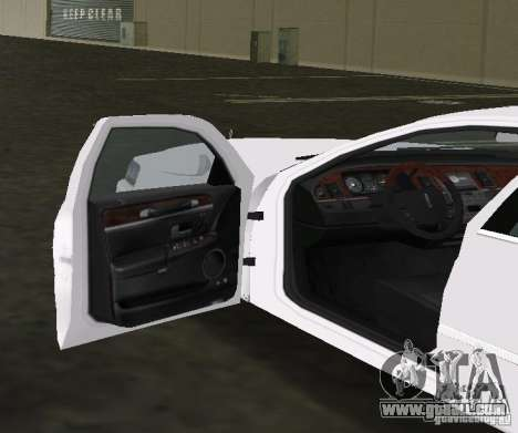 Lincoln Town Car for GTA Vice City back view