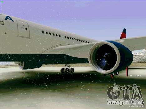 Airbus A330-200 for GTA San Andreas back view