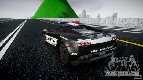 Lamborghini Gallardo LP570-4 Superleggera 2011 for GTA 4 back left view
